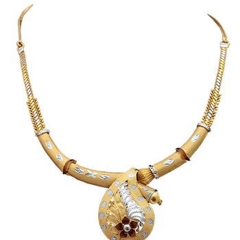 Khimji Gold Necklace- KD-NE0024