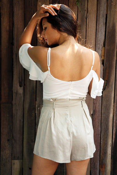 Charmed Cold Shoulder Romper - JSEJ Styles