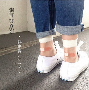 Cute Japanese Style Patchwork Casual Socks - JSEJ Styles