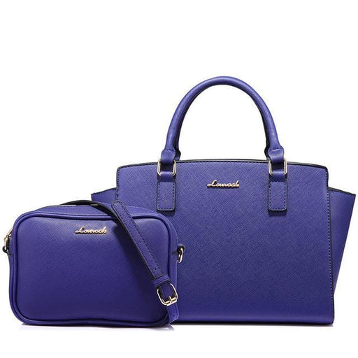 Fashion Womens handbags 2018 with large capacity and ladies messenger bag Black/Purple/Brown - Blue / China / (30cm<Max Length<50cm) -