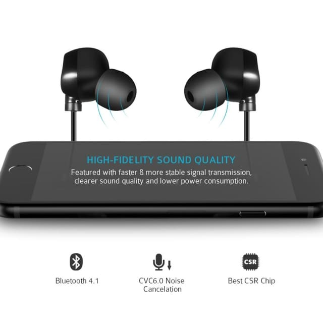 Mic Hansfree Wireless Earphones - Bluetooth Headset with Noise Cancelling - Earphone