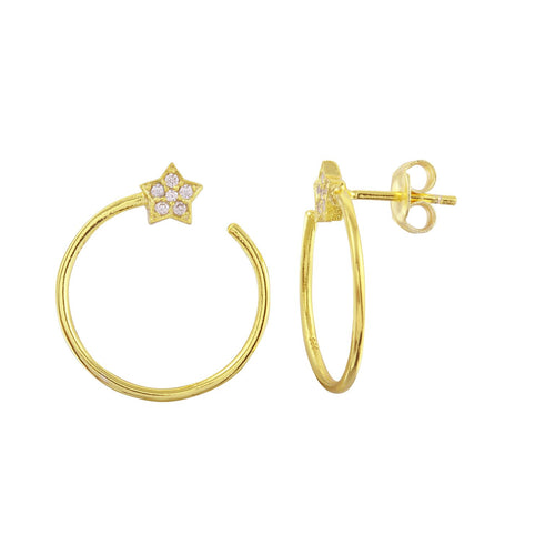 Star Wrap Around Earrings