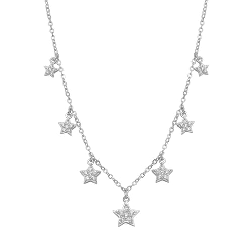 Graduated Star Choker Necklace