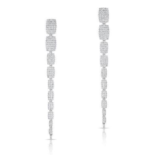 14k Gold and Diamond Luxe Drop Earrings