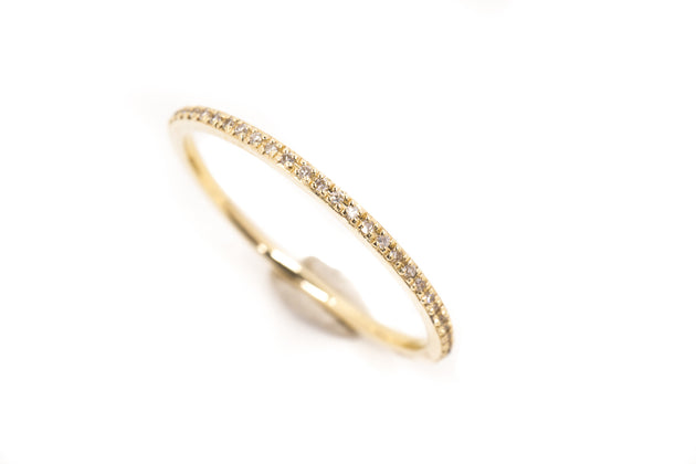 14k Gold and Diamond Pavè Eternity Band