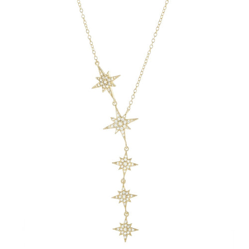 Starburst Statement Y Drop Necklace