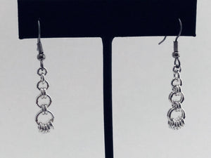 Sterling Silver 16 Gauge Long Drop Earrings
