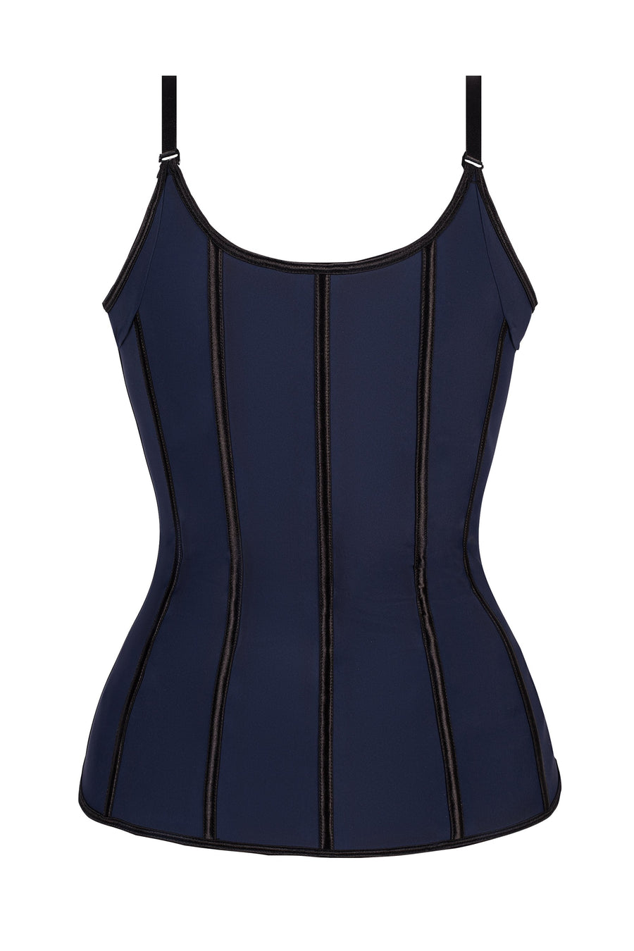 Corset Story Navy Latex Underbust Corset with adjustable Bra Straps