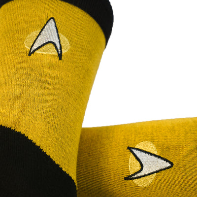 Star Trek Next Generation Engineering Gold Mens Crew Socks