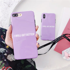 I Will Get Better Glossy iPhone Case