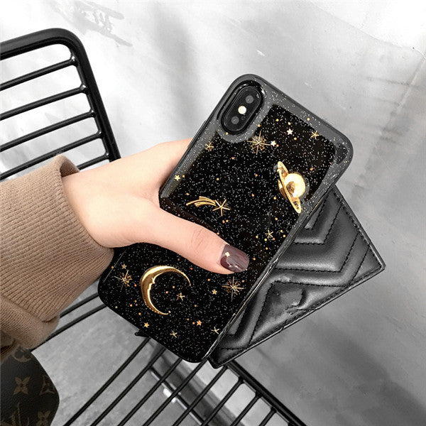 3D Planet Space iPhone Case