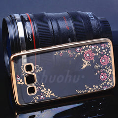 Luxury Diamond Flower Samsung Case