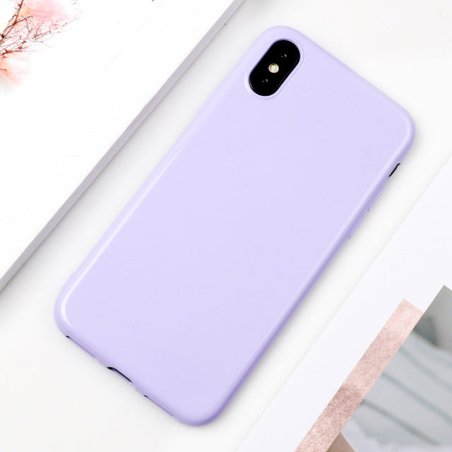Candy Color Glossy iPhone Case
