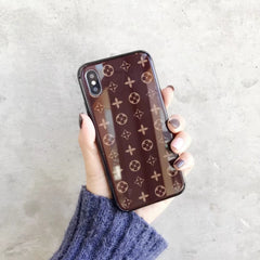 Luxury Monogram Tempered Glass iPhone Case