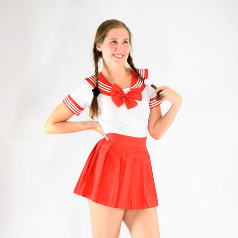 Sailor Girl Play Clothes - Red