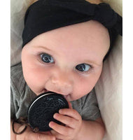 Haakaa Oreo Silicone Cookies FREE Teething Necklaces - Black