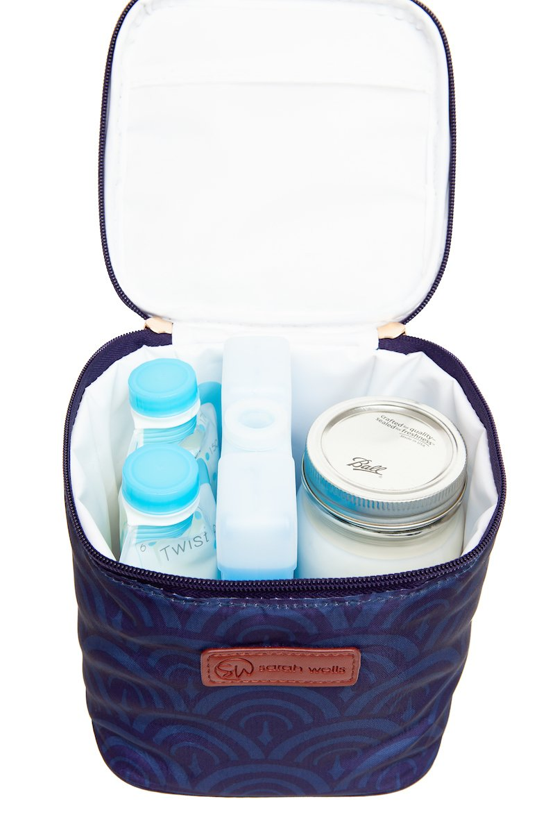 Sarah Wells Cold Gold Cooler Bag + Ice Pack (Deco)
