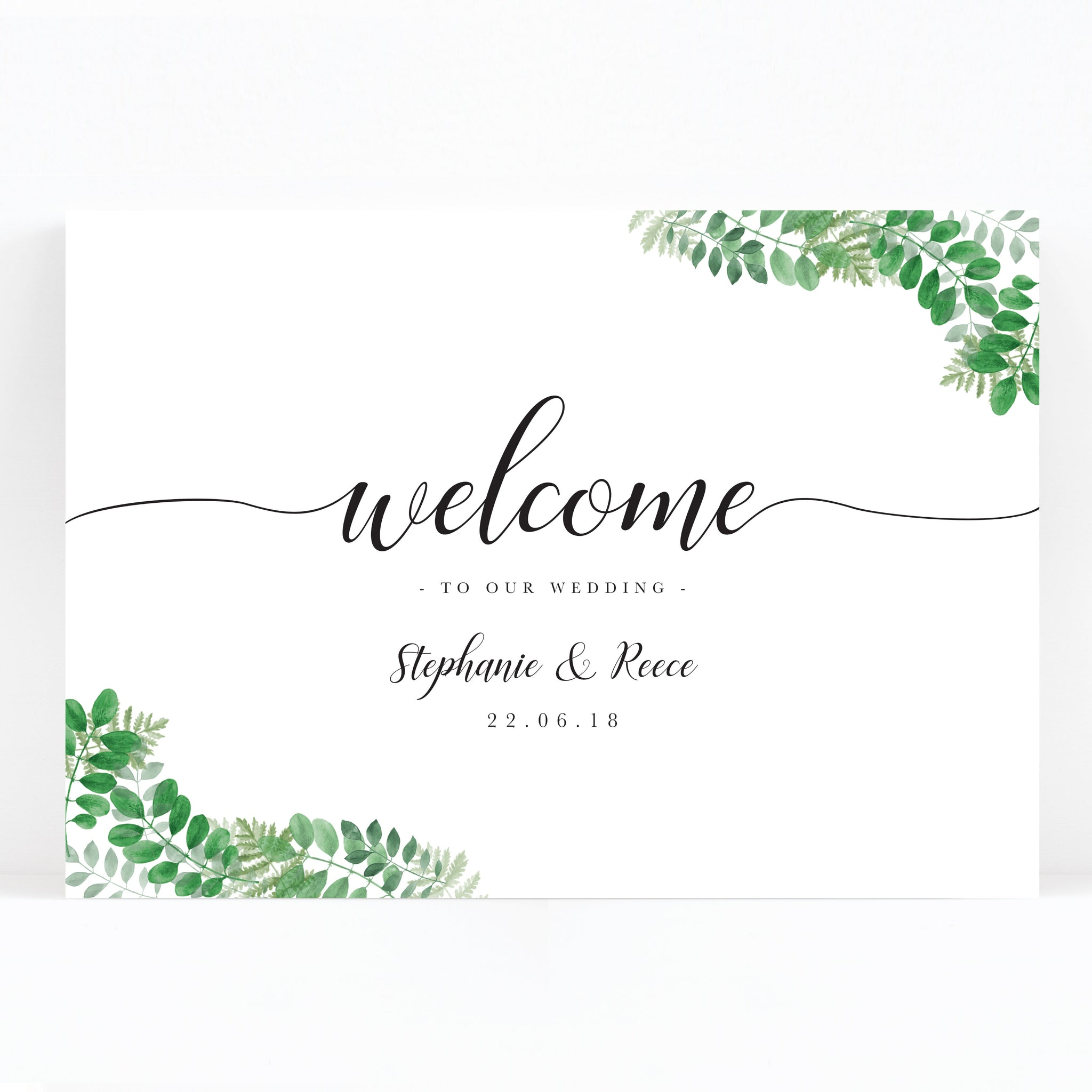 Richmond Greenery Welcome to our wedding sign
