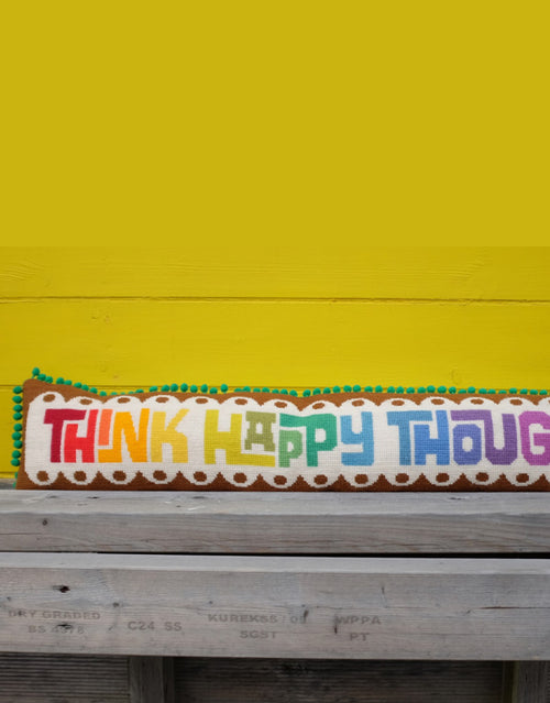 Emily Peacock Tapestry Kit, Think Happy Thoughts