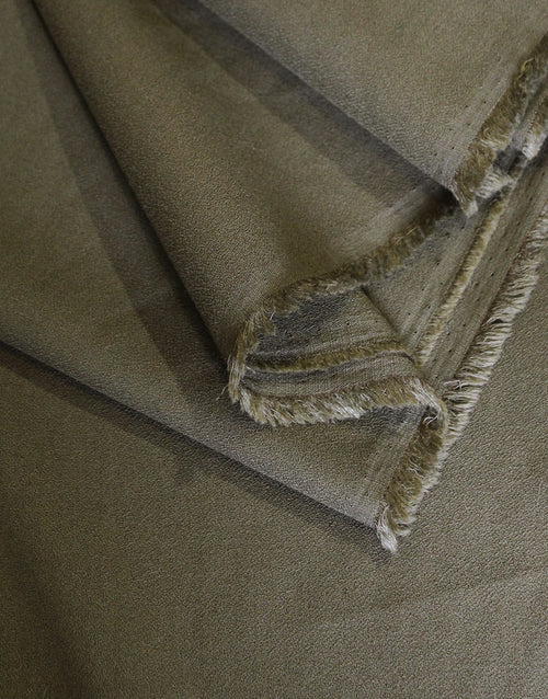 Crepe Dressmaking Fabric, Khaki