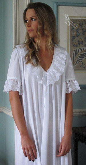 Odette White Nightie