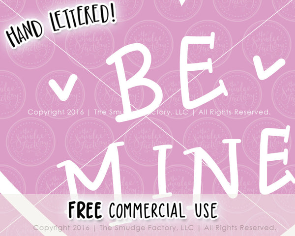 Be Mine Heart SVG & Printable
