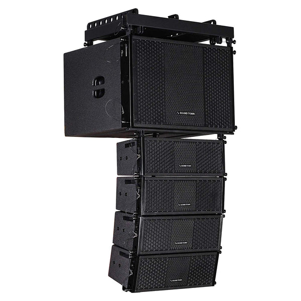 "ZETHUS Series Line Array Speaker System w/ (1) 15"" Subwoofer, (4) Compact 2 x 5"" Speakers, Black (ZETHUS-115S205V2X4 )"