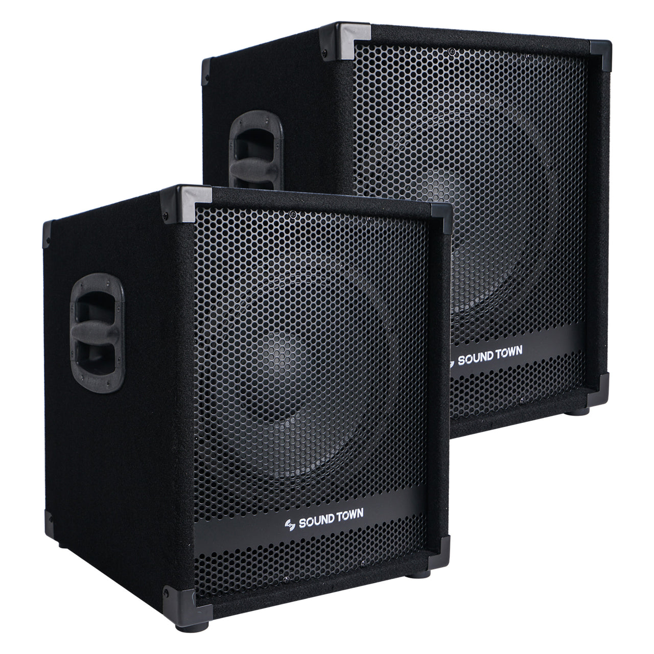 "METIS-12SPW-PAIR<br/>Pair of 12"" 2800W Powered PA DJ Subwoofers with 3"" Voice Coil"
