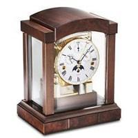 Mantel / Mantle / Table Clock - Kieninger 1242-22-02 Mechanical Mantel Clock With Triple Chimes  In Cherry