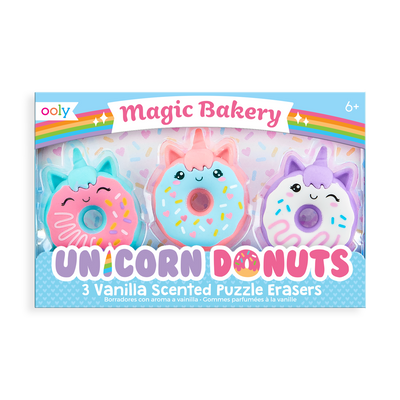 Magic Bakery Unicorn Donut Scented Erasers in package