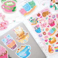 Assorted Cat Cafe Scented Stickers