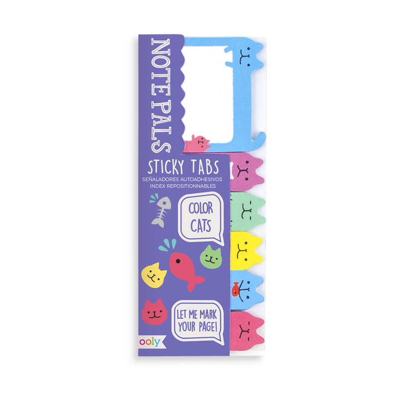 Colorful cat themed Note Pals sticky tabs