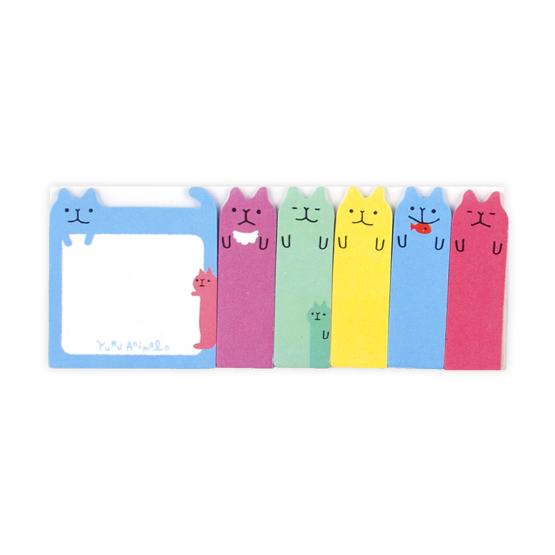 There's 90 colorful cats total in each set of Note Pals with 6 different designs