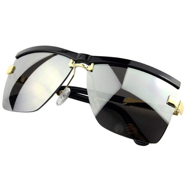 Semi-Rimless Frame Business Sunglasses