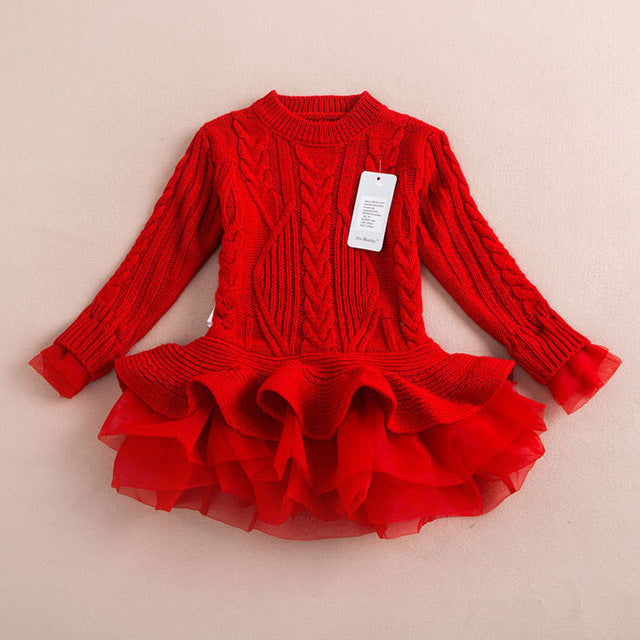 Princess Knitted Winter Party Sweater