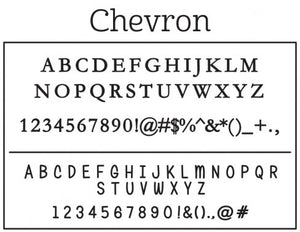 Kelly Hughes Chevron Stamp