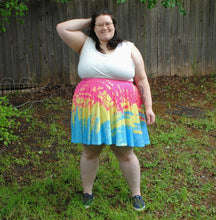 Pixel Pride Palette Skater Skirt with Pockets - Pan / Pansexual Pride