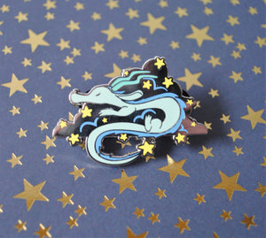 Sleepy Star Dragon Enamel Pin