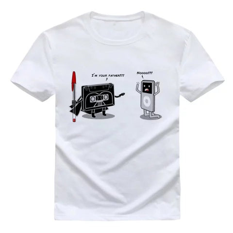 T-Shirt iPod I'm your father Star Wars white
