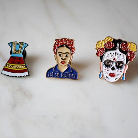 Frida Kahlo Enamel Pins - The Little Pueblo