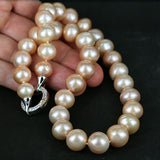 Large Glowing Pearl Bead Necklace