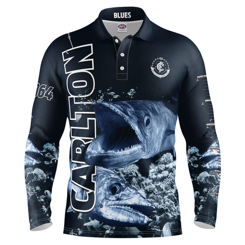 AFL Carlton Fishing Shirt