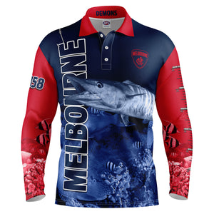 AFL Melbourne Fishing Shirt