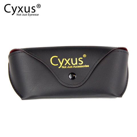 Men/Women's Portable PU Leather Black Glasses Pouch Soft Eyeglasses Case Sunglass Box Case Glasses Case cyxus