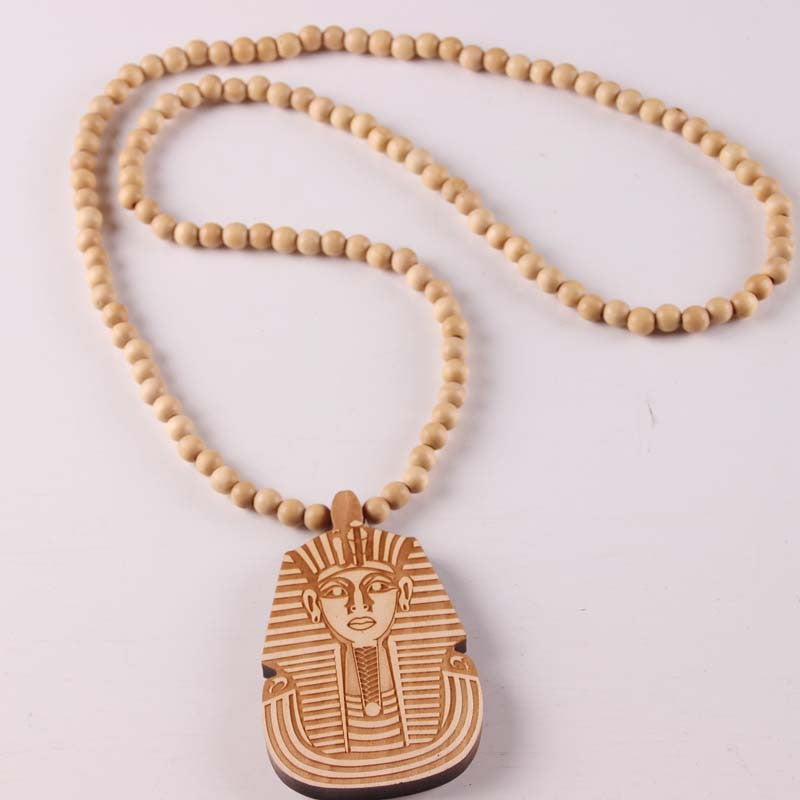 Wooden Pharaoh Necklaces