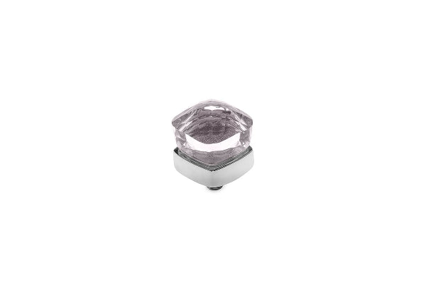 Interchangeable Top Ascoli Small 7 mm Stainless Steel Silver Swarovski  Rose Water