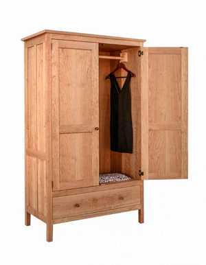 Craftsman 1-Drawer Armoire in Natural Cherry