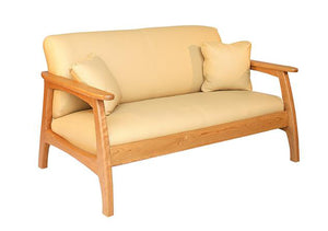 Linnaea Loveseat in Natural Cherry, Hardwood Artisans