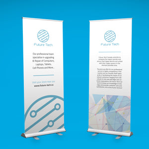 "Retractable Roll Up Banner 33"" x 80"" With Print & Carrying Case"