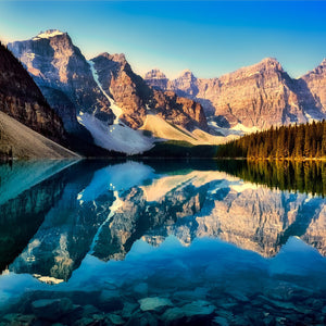 Moraine lake reflections canada